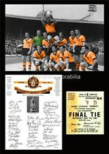 WOLVERHAMPTON WANDERERS FC WOLVES FC 1960 FA CUP FINAL SIGNED REPRINT A4 PRINT