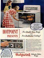 1948 ORIGINAL VINTAGE HOTPOINT ELECTRIC RANGE MAGAZINE AD **
