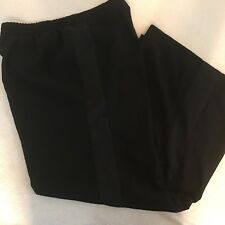 Mossimo Black Dress Pant With Satiny Black Strip Down Each Side Of Legs Size XXL