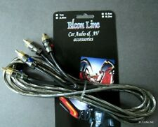 ELCONLINE 2- RCA  STEREO AUDIO RCA CABLE CAR / BOAT #EWgtc  2.6 m / 8.5 Feet
