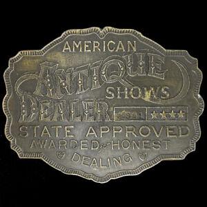 Antik Antiques Händler Sammler Laden Besitzer Picker 70s Nummern Vintage Gürtel
