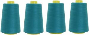 Polyester Sewing Thread For Serger 6000 Yards All Purpose 4 Spools 40S/2