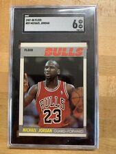 1987-88 Fleer Basketball #59 Michael Jordan Chicago Bulls SGC 6 EX-NM