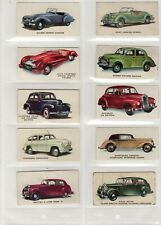 More details for kelloggs motor cars set 40 colour 1949 trade cards