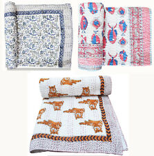 Quit Handmade Blanket Cotton Fabric Bed Cover Indian Baby Quilt Block Bedding