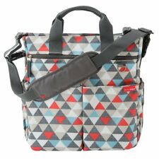 SKIP HOP DUO SIGNATURE Diaper Bag Baby Diaper Bag with Changing Pad, Triangles