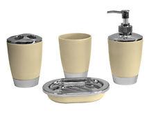 4pc Bathroom Accessory Set Tumbler Lotion Tooth Brush Holdr SoapTray Cream