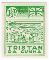 (I.B) Tristan da Cunha Postal : Local Post 1½d (Ox Cart)