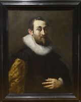 Large 17th Century Dutch Old Master Gentleman Portrait Oil Painting Frans HALS
