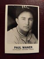 1983 RGI Renata Galasso #209 Paul Waner Baseball Card