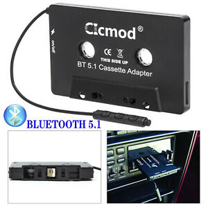 Bluetooth 5.1 CAR AUDIO TAPE CASSETTE ADAPTER RECEIVER FOR CD MP3 RADIO