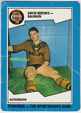 1989 SCANLENS/STIMOROL RUGBY LEAGUE: DAVID BROOKS #17 TIGERS/COUNTRY/ORIGIN (a)
