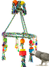 1111 Huge Pyramid Rope Swing Bird Toy parrot cage toys cages macaws cockatoos