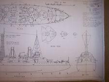 Bb3 Uss Oregon ship boat plans