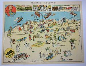 ALGERIA NICE PICTORIAL MAP 1930 XXe CENTURY