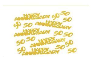 50th Gold 50 Happy Anniversary Confetti 2 oz 50th Decorations Supplies