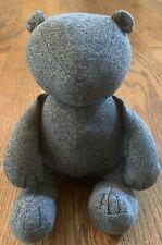 """Baby Gap BLACK NIGHT TEDDY BEAR Uni Marl Grey 9"""" Plush Stuffed Holiday 2014 NWT"""