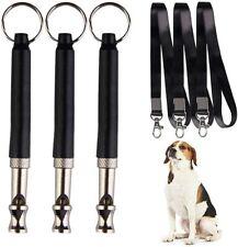 3 x Fischietto ad Ultrasuoni per Cani Professionale con Frequenze Regolabili