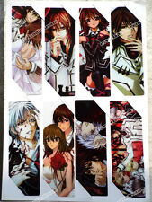 8pcs/set Anime Vampire Knight PVC bookmarks of Kiryu Zero/KurosuKuran Yuki