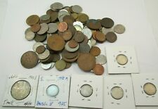 1 Pound World Coins Silver Copper Nickel Canada Germany Various Other Countries