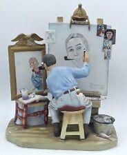 "Norman Rockwell Self Portrait 1978 Saturday Evening Post by Gorham *NIB* 10.5"""