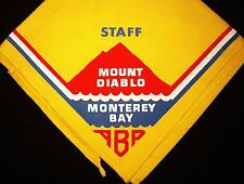 BOY SCOUT  MOUNT DIABLO / MONTEREY BAY  A.C  EARLY 60'S JLT STAFF N/C   CALIF