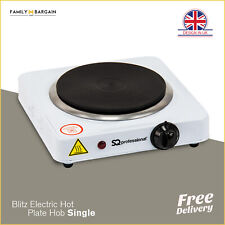 Electric Portable Hot Plate Cooking Hob Stove Cooker Ring Non Slip Single 1000W