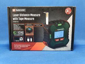 Parkside Digital Laser Distance Measure 2 in 1 Tape Spirit Level - PLMB 4 A1