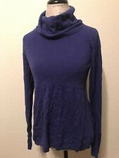 Banana Republic Purple Turtleneck Sweater Shirt Size Large L Cotton Viscose Silk