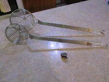 Set of 2 Fryer-Commercial Skimmer /Scoops long handled stainless steel EUC!