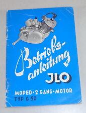 Betriebsanleitung ILO Moped 2 Gang Motor Typ G 50