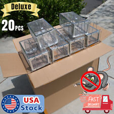 20pcs Humane Animal Trap Steel Cage for Small Live Rodent Control Rat Squirrel