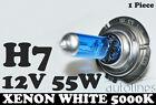 1 x H7 12V 55W Xenon White 5000k Halogen Blue Car Head Light Lamp Globes / Bulbs