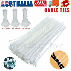 Cable Ties Zip Ties Nylon UV Stabilised 100/200/500/1000x Bulk Cable Tie