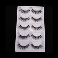 5 Pairs Long Soft Makeup Tool Black False Eyelashes Eye Lashes Extension