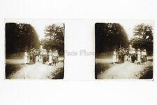 Mode dans le bois Photo Amateur Plaque de verre stereo Positif Vintage ca 1925
