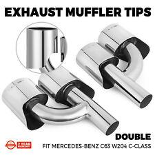 Fits Mercedes-Benz W204 C-Class C63 Exhaust Muffler Tips AMG Style