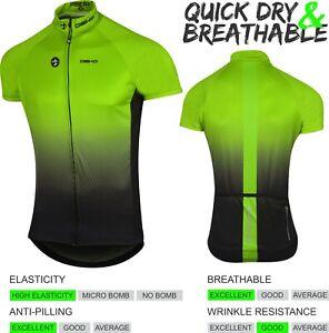 DEKO Mens Cycling Jersey Half Sleeve Bike/Bicycle top jersey Short Sleeves Green