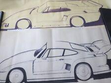 New ListingVintage Kremer Racing Porsche 935 Design Sketch Drawing Art Lot Of 5 - Nottrodt