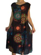 Damenkleider im Tuniken-Stil mit Rundhals-Ausschnitt in Größe 52