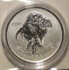 2016 $20 Dollar .9999 Fine Silver dinoSaur Tyrannosaurus Commemmorative coin