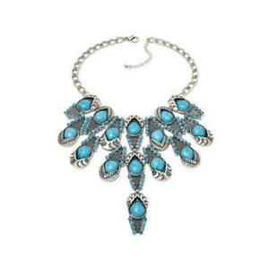 Rara Avis by Iris Apfel Simulated Turquoise Color Stone Necklace NWT RET $200