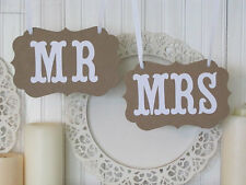 Mr and Mrs photo booth props, chair signs, wedding decorations 1 pair