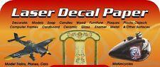 10 Blatt transparente Decal Folie für Alps / Laser Drucker