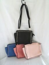 Ladies Pastel Stud Shoulder Bag Cross Body Strap Day Evening bag FB126