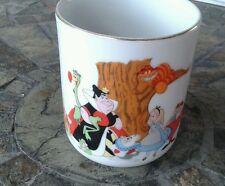 """Walt Disney Productions Alice In Wonderland Porcelain Mug - Japan Vintage 3.5"""""""