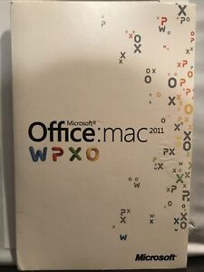 Microsoft Office MAC 2011 WPXO Home and Business