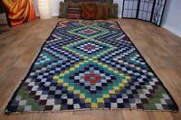 nr 38 Handgewebter VINTAGE Teppich aus Wolle NOMADEN KILIM KELIM ca 293 x 150 cm