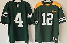 Aaron Rodgers #12 Brett Favre #4 Men's L NFL Majestic Packers Jersey Lot of 2