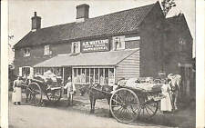 Bracon Ash Post Office. A.H. Watling, Family Grocer. Delivery Carts.